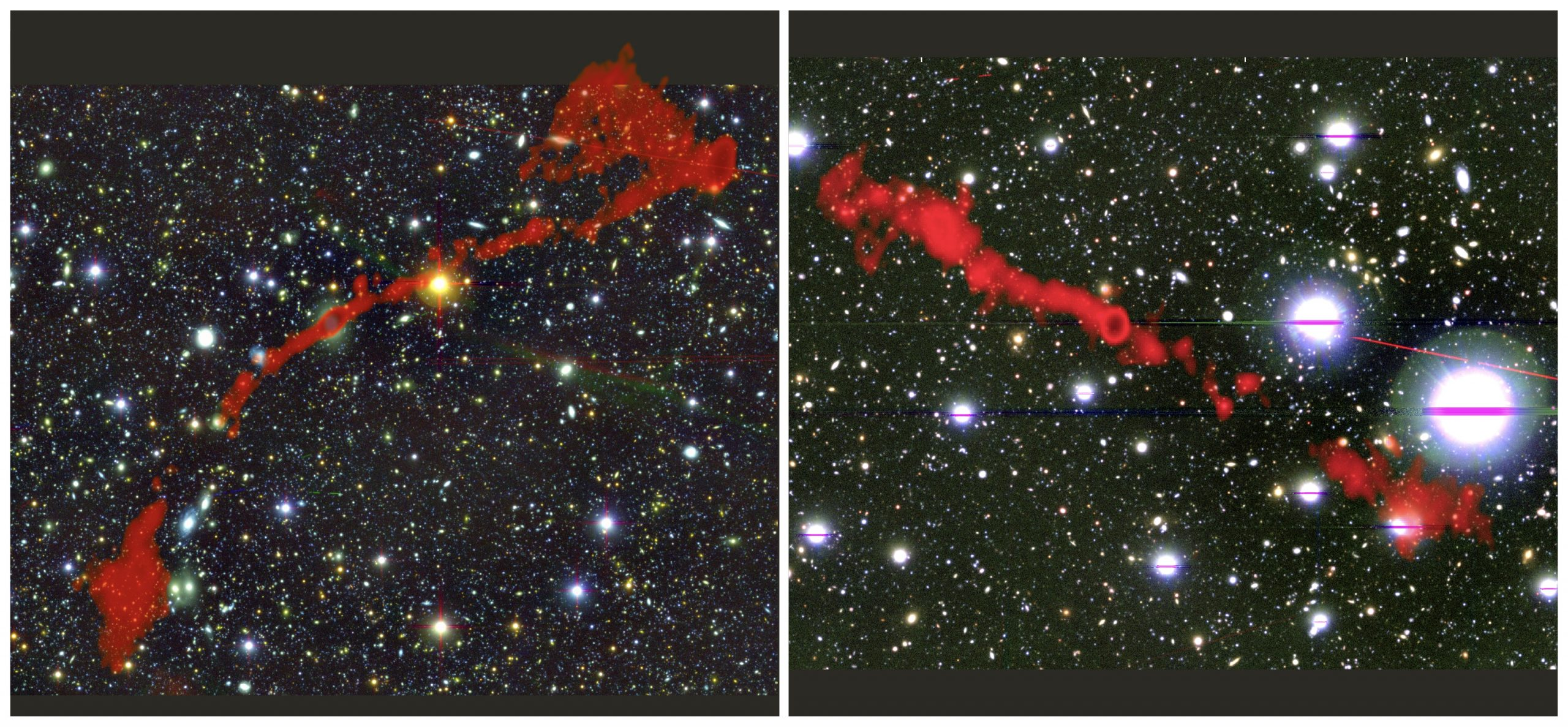 South African MeerKAT discovery of two Giant Radio Galaxies
